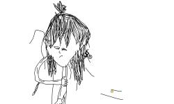 Drawing: Weak Girl