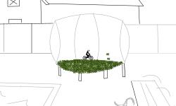 trampoline back yard