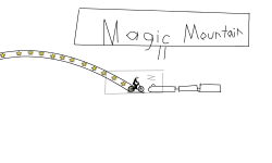 Magic Mountain from six Flags!