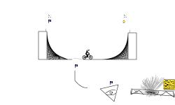 Half pipe puzzle track