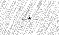 Distant bird in a gray sky