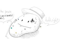 Bashful potato